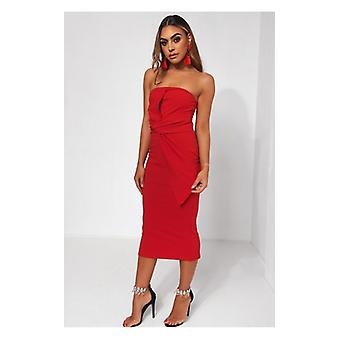 The Fashion Bible Darcy Red Bow Dress