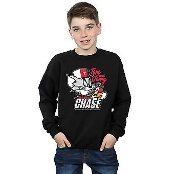 Tom And Jerry Boys Cat & Mouse Chase Sweatshirt