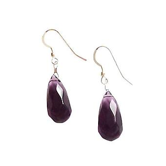 Gemshine - ladies - earrings - 925 Silver - Amethyst - dripping - faceted - violet - 2 cm