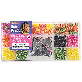 Large Hair Bead Kit Bright Pearl 6550