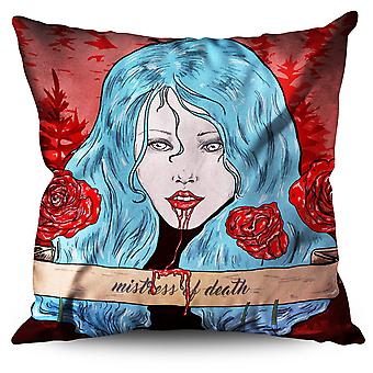 Blood Rose Scary Horror Linen Cushion Blood Rose Scary Horror | Wellcoda