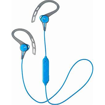 JVC Sport Wireless Bluetooth In-Ear Over-Ear Headphones with Ear-Clip - Blue