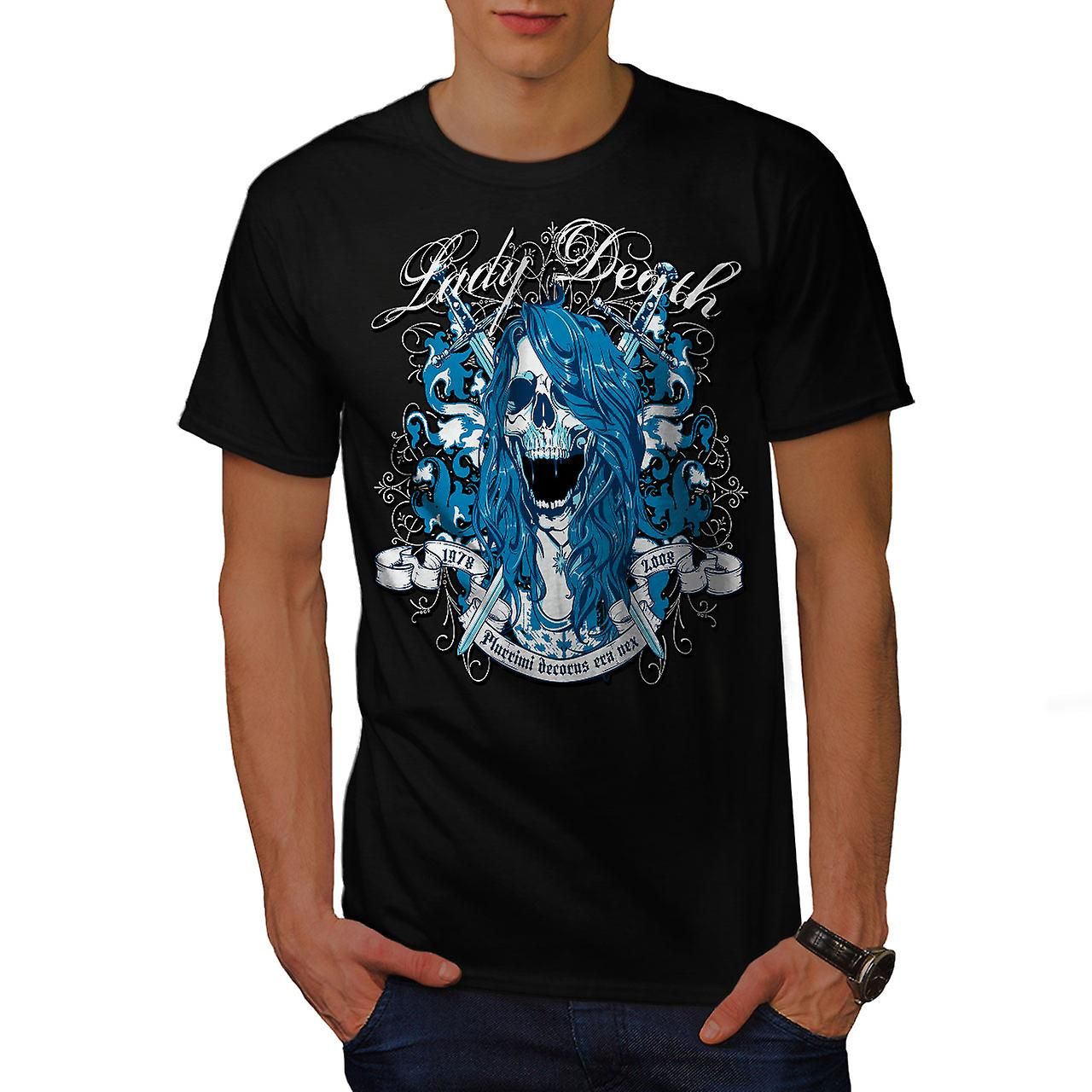 Lady Death Horror Skull Men Black T-shirt | Wellcoda