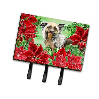 Carolines Treasures  CK1307TH68 Chinese Crested Poinsettas Leash or Key Holder