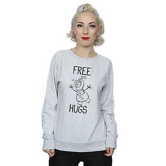 Disney Women's Frozen Olaf Free Hugs Sweatshirt