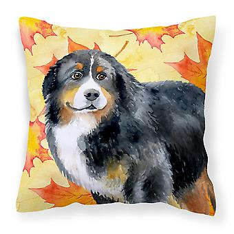 Bernese Mountain Dog Fall Fabric Decorative Pillow