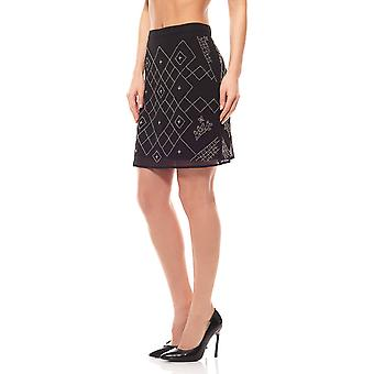 Mini skirt Aniston rock ladies ornamental beads rock recreational rock black