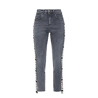 Pinko women's 1G1392Y4EHI89 grey cotton of jeans
