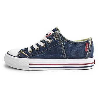 Levis Red Tab Low Lace Canvas Shoes Blue