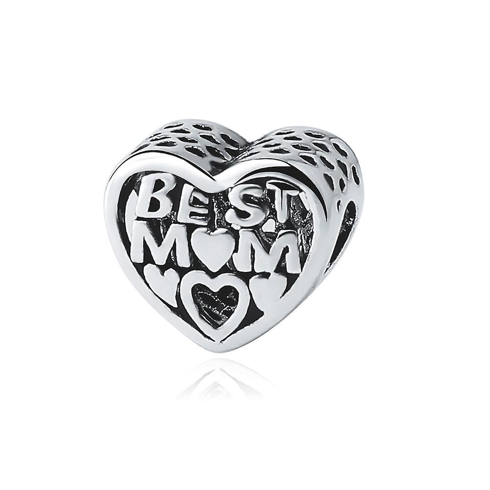 Best mum heart Bead charms