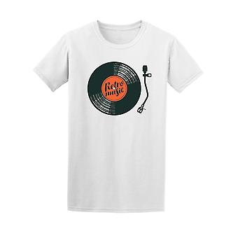 Retro Music With Vinyl Record Tee Men's -Image by Shutterstock
