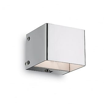 Ideal Lux Flash-Chrome Cube moderne Waschmaschine Wandleuchte
