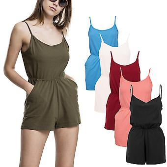 Urban classics ladies - short spaghetti jumpsuit jumpsuit