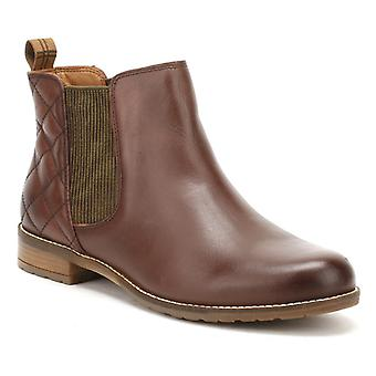 Barbour Womens Wine Brown Abigail Chelsea Boots