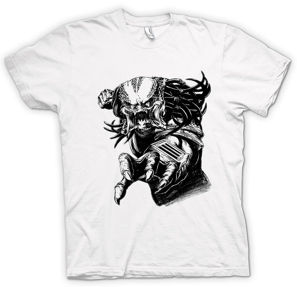 Womens T-shirt - Predator Alien - skiss