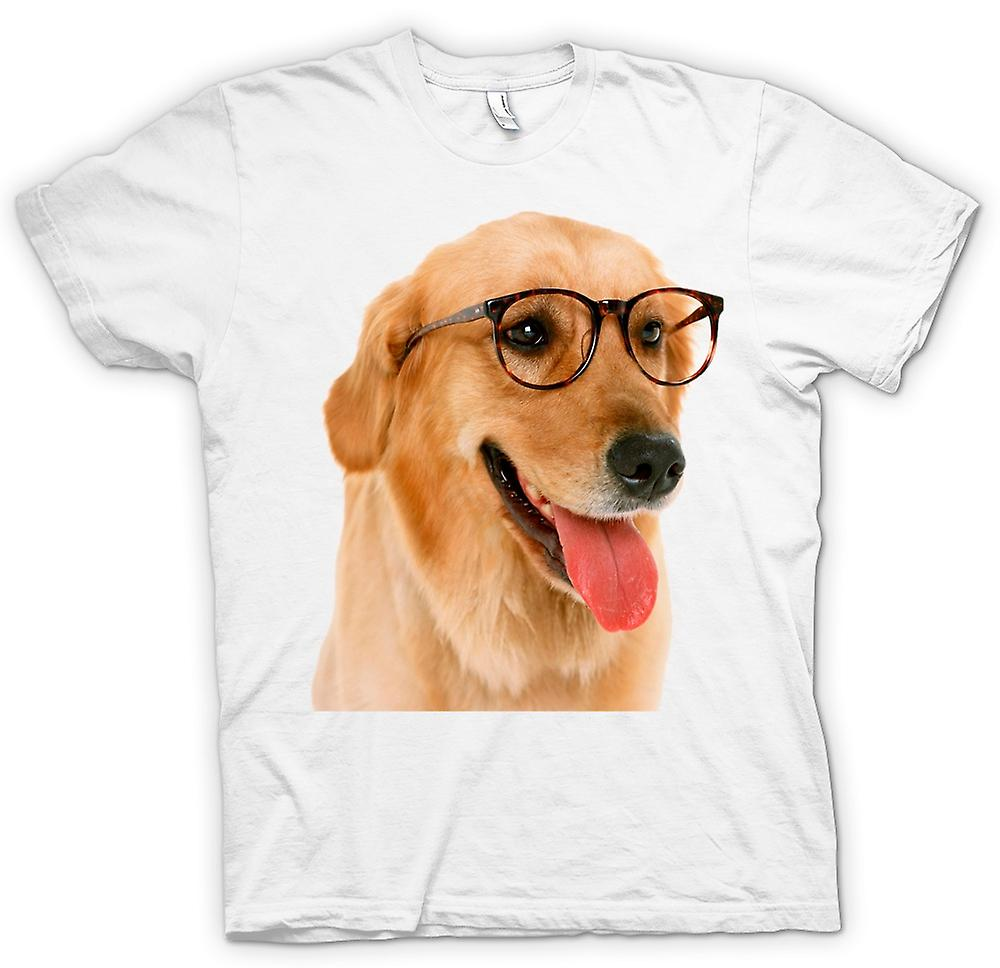 Womens T-shirt - Labrador med glasögon - Funny