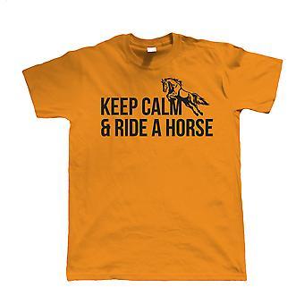 Keep Calm & Ride A Horse, Mens Equestrian T Shirt