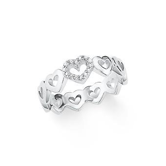 s.Oliver Jewel Damen Ring Silber Zirkonia Herz 202097