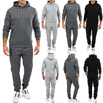 Mens jogging suit Streetstyle Sweatpullover + Sweathose fitness set soft touch