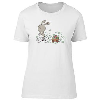 Bunny On Bicycle Tee Women's -Image by Shutterstock