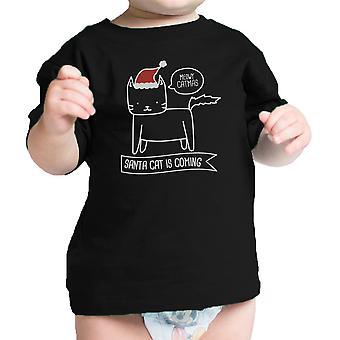 Meowy Catmas Santa kot śmieszne dziecko koszulkę Funny Baby Shower upominkami