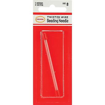 Colonial Twisted Wire Beading Needles-Size 8 5/Pkg