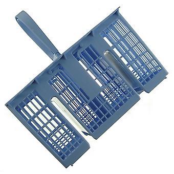 Ljus blå Indesit diskmaskin bestick korg