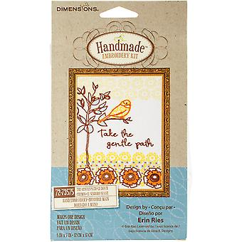 The Gentle Path Stamped Embroidery Kit-5