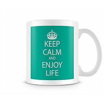 Keep Calm And Enjoy Life Printed Mug