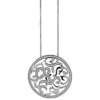 Orphelia Silver 925 Pendant With Chain Big Round Zirconium  ZH-4881