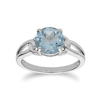Gemondo Sterling Silver Blue Topaz November Round Ring
