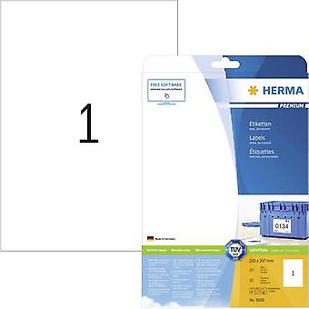 Herma 5065 Labels 210 x 297 mm Paper White