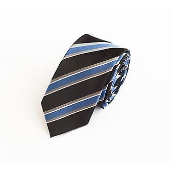 Tie tie tie tie 6cm blue black grey striped Fabio Farini