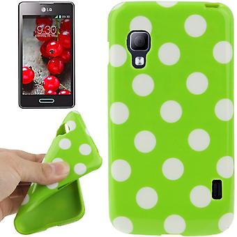 Pontos TPU casos protetoras do caso para celular LG Optimus L5 II / E455