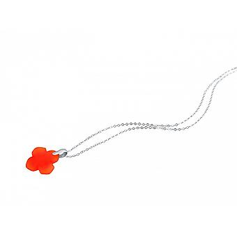 Precious stone chain - necklace - charms - 925 Silver - carnelian - red - 2.5 cm