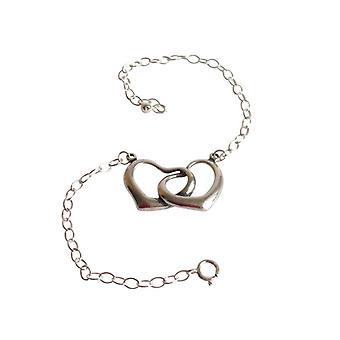 Hjertet armbånd margen armbånd hjerte 925 sølv armbånd med hjerte hjerte