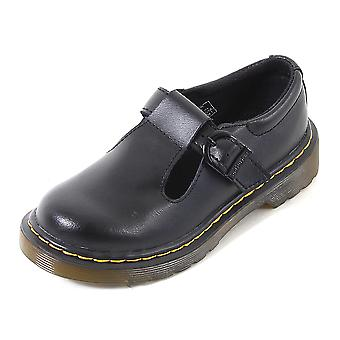 Dr Martens Junior Polley T Lamper Leather Buckle Shoe Black