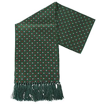 Knightsbridge Neckwear Diamond Aviator Silk Scarf - Green