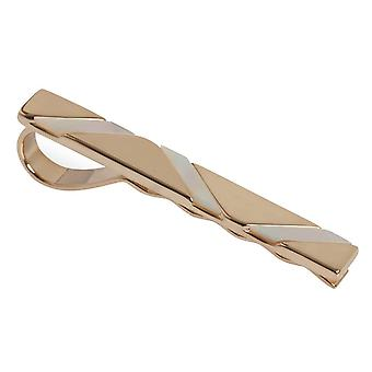 Simon Carter Mother of Pearl Wave Tie Slide - Rose Gold/White