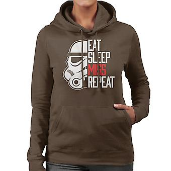Original Stormtrooper Eat Sleep Miss Repeat Women's Hooded Sweatshirt