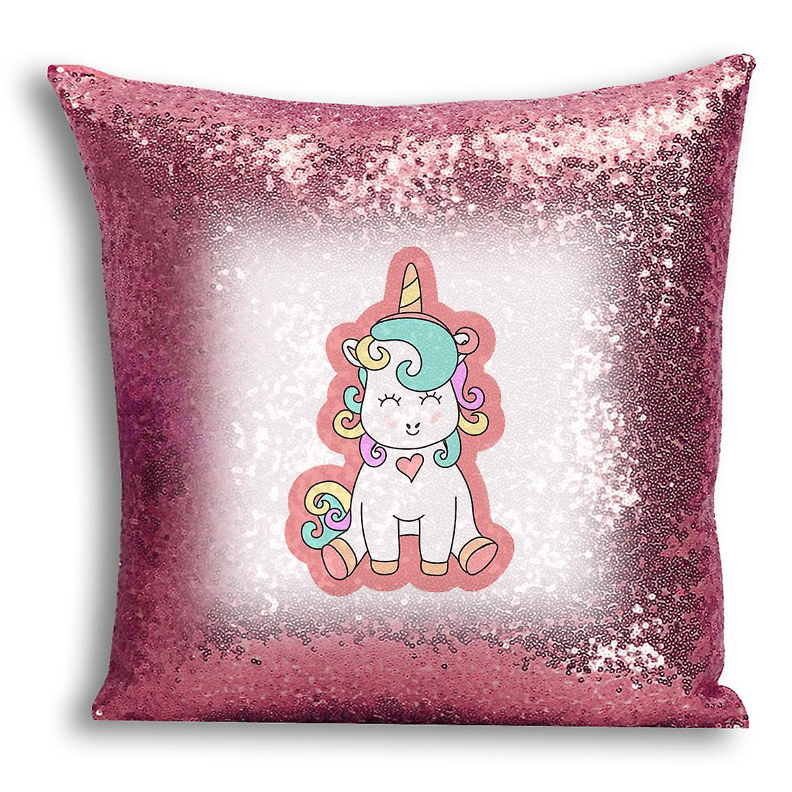 CushionPillow Cover Home I With Inserted For Gold Sequin Decor Rose 19 Printed Design tronixsUnicorn 5q43jLAR