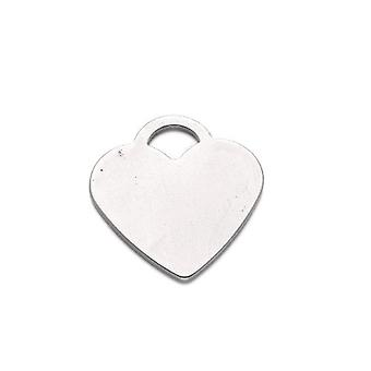Packet 3 x Silver 304 Stainless Steel Heart Stamping Blanks 25 x 26mm ZX20250