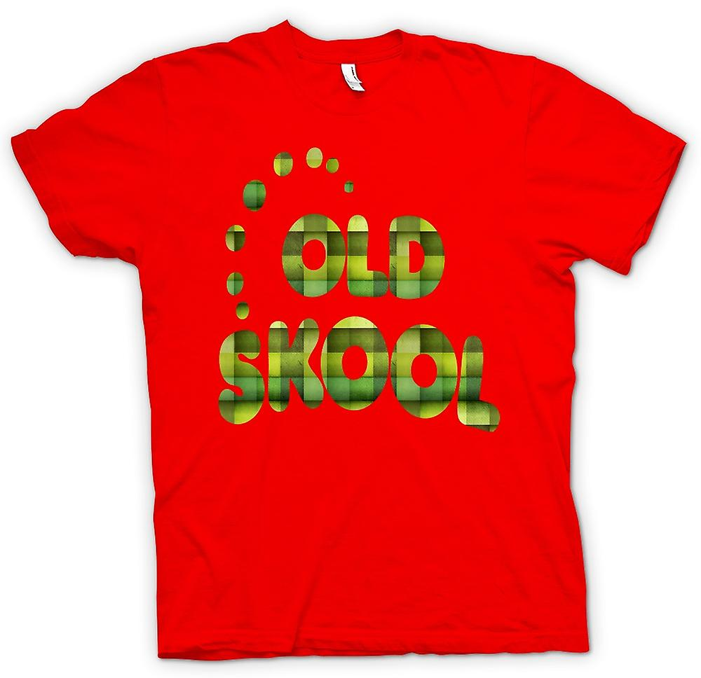 Mens t-shirt-Old Skool retrò