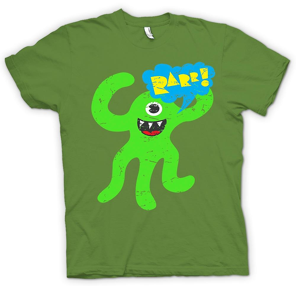 Mens T-shirt - Cool Cute Monster - Raaarrr
