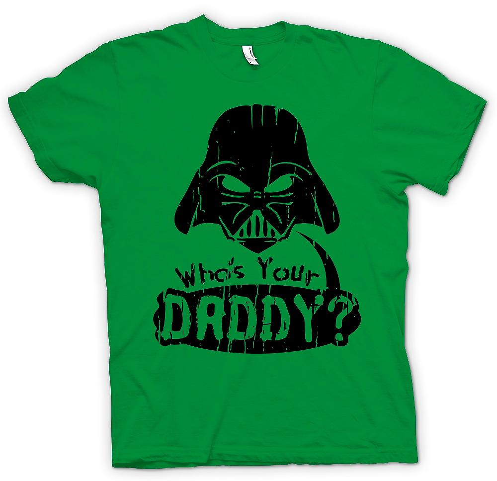 Mens T-shirt - Who's Your Daddy - Funny Darth