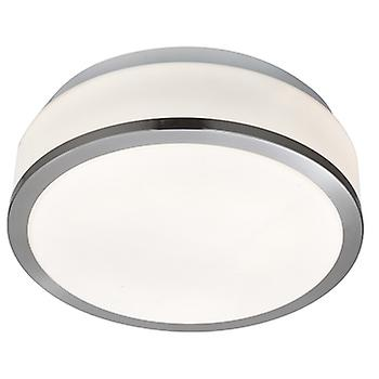 Searchlight 7039-28SS Bathroom Modern Silver Ceiling Light with Opal G