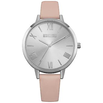 Missguided | Ladies | Cream Leather Strap Silver Dial | MG001P Watch