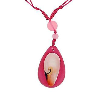 The Olivia Collection Sea Life Necklace with REAL Shell Set In Pink Resin Case