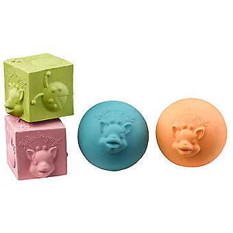 Sophie the Giraffe Set of 2 Balls and 2 Cubes