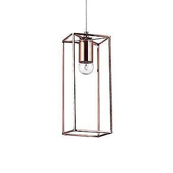 Ideal Lux - v acabado cobre colgante con cristal IDL137124